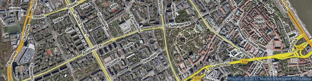 Zdjęcie satelitarne Skwer Więźniów Politycznych Stalinizmu skw.