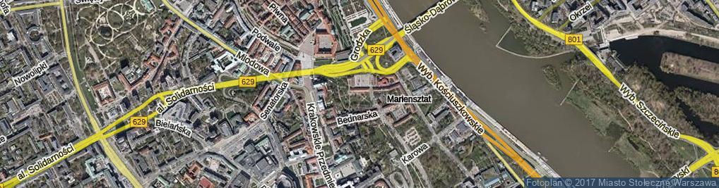 Zdjęcie satelitarne Skwer Orgelbranda Samuela skw.