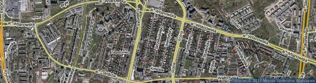 Zdjęcie satelitarne Skrzetuskiego ul.
