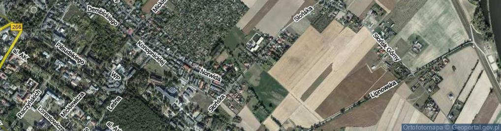 Zdjęcie satelitarne Słońska ul.