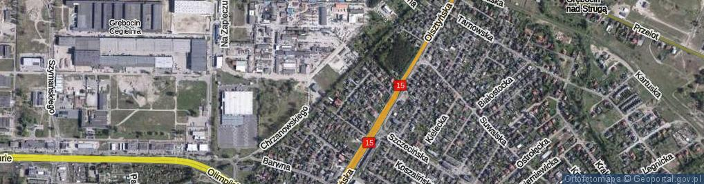 Zdjęcie satelitarne Słodka ul.