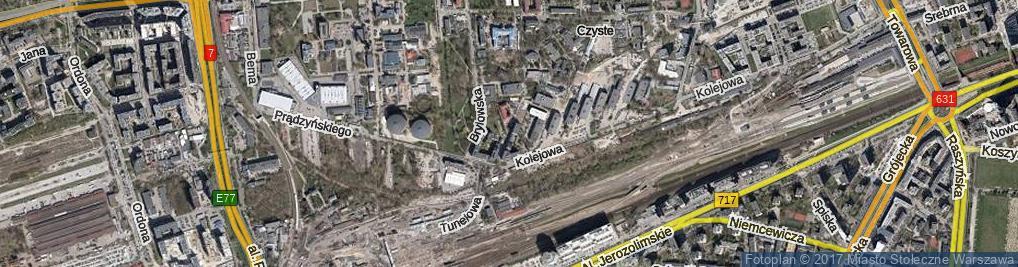 Zdjęcie satelitarne Sławińska ul.