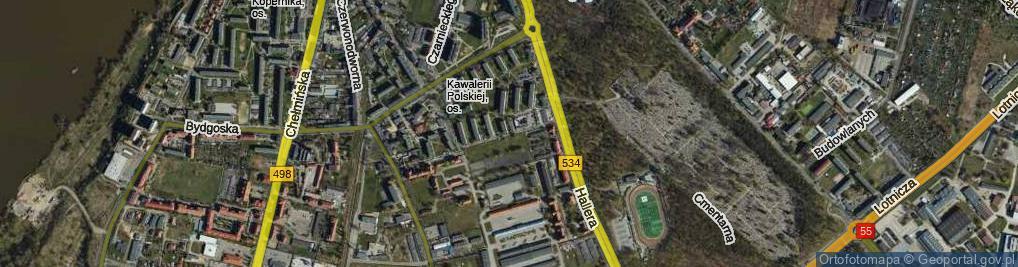 Zdjęcie satelitarne Smoleńskiego Józefa, gen. ul.