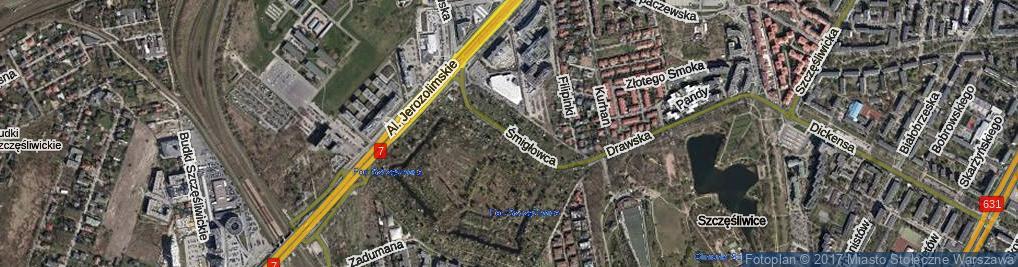 Zdjęcie satelitarne Śmigłowca ul.