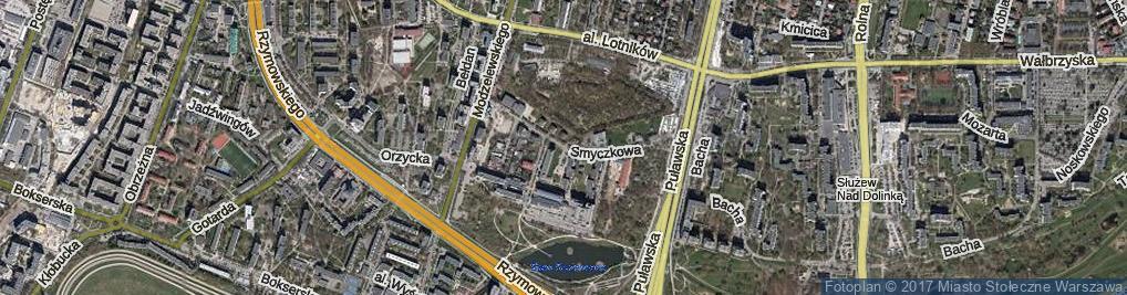 Zdjęcie satelitarne Smyczkowa ul.