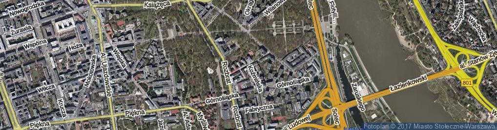Zdjęcie satelitarne Śniegockiej Cecylii ul.