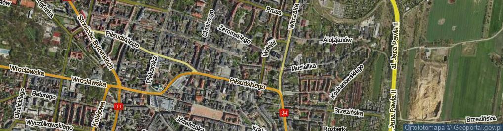 Zdjęcie satelitarne Sokoła ul.