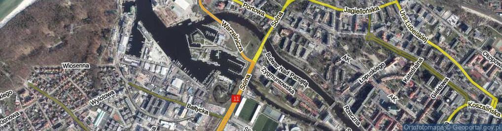 Zdjęcie satelitarne Solna ul.