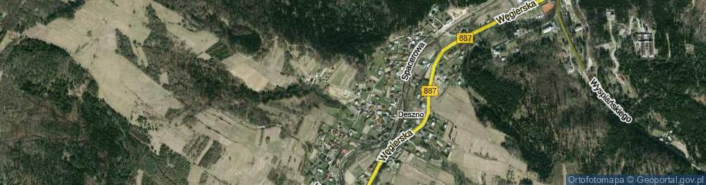 Zdjęcie satelitarne Sosnowa ul.