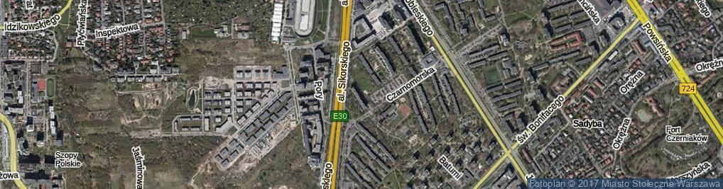 Zdjęcie satelitarne Sozopolska ul.