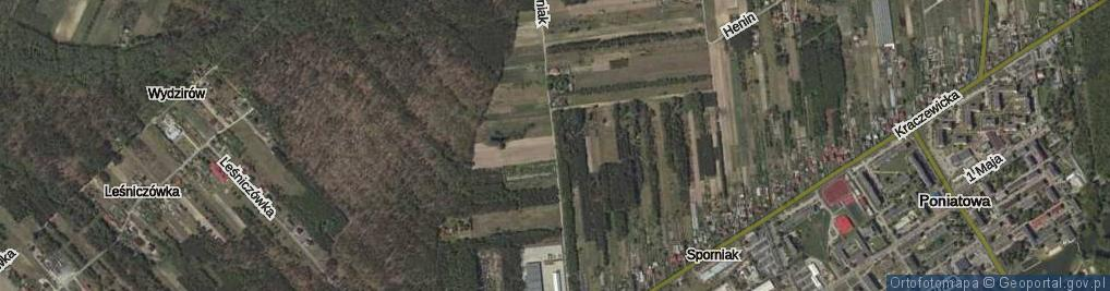 Zdjęcie satelitarne Sporniak ul.