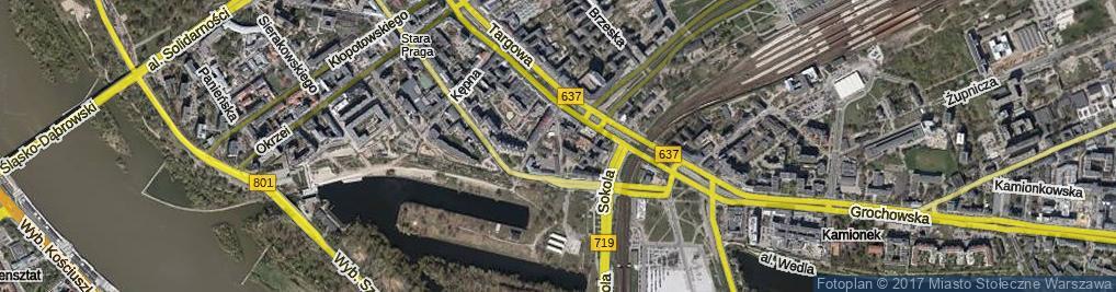 Zdjęcie satelitarne Sprzeczna ul.
