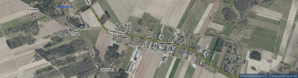 Zdjęcie satelitarne Srebrowo ul.