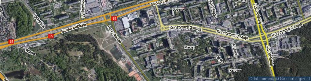 Zdjęcie satelitarne Srebrnego Stefana ul.