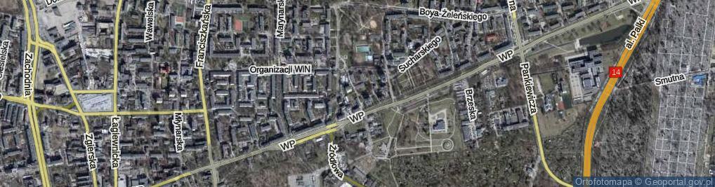 Zdjęcie satelitarne Starosikawska ul.