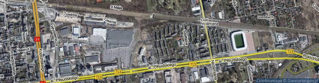 Zdjęcie satelitarne Stylonowa ul.