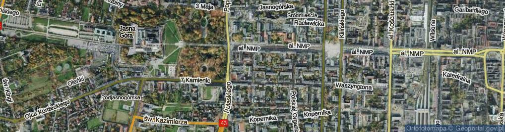 Zdjęcie satelitarne Stryjeńskiej ul.