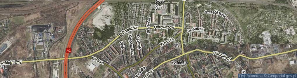 Zdjęcie satelitarne Stabika Antoniego ul.