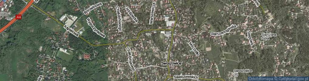 Zdjęcie satelitarne Stawisko ul.