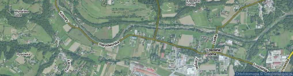 Zdjęcie satelitarne Starodworska ul.