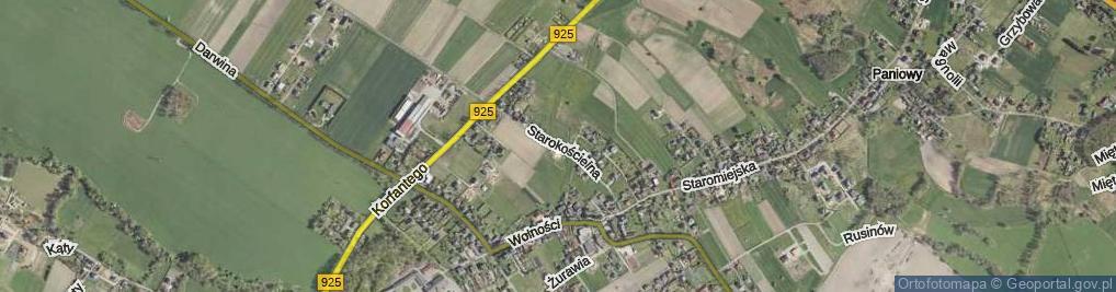Zdjęcie satelitarne Starokościelna ul.