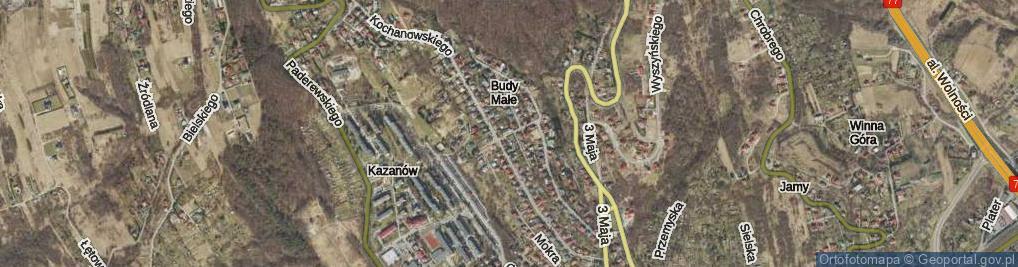 Zdjęcie satelitarne Studencka ul.