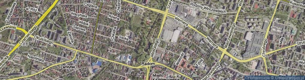 Zdjęcie satelitarne Stary Ogród ul.