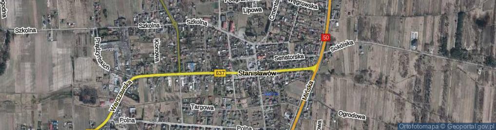 Zdjęcie satelitarne Stanisławów ul.