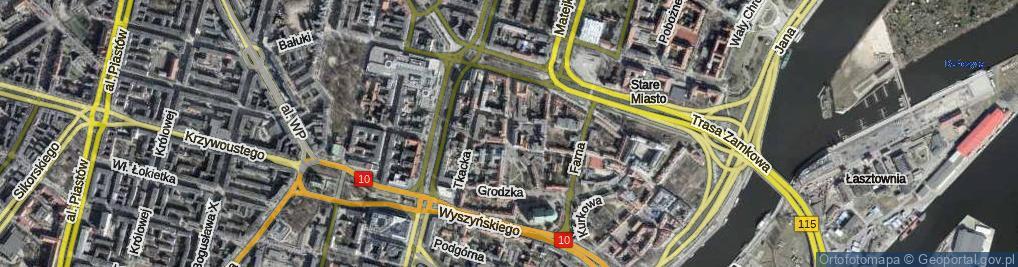 Zdjęcie satelitarne Staromłyńska ul.