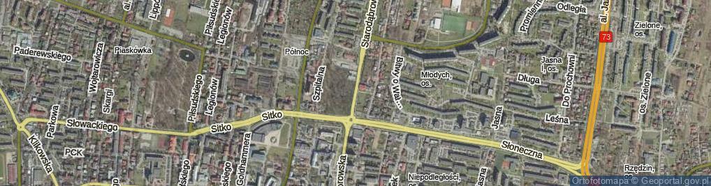 Zdjęcie satelitarne Starodąbrowska ul.