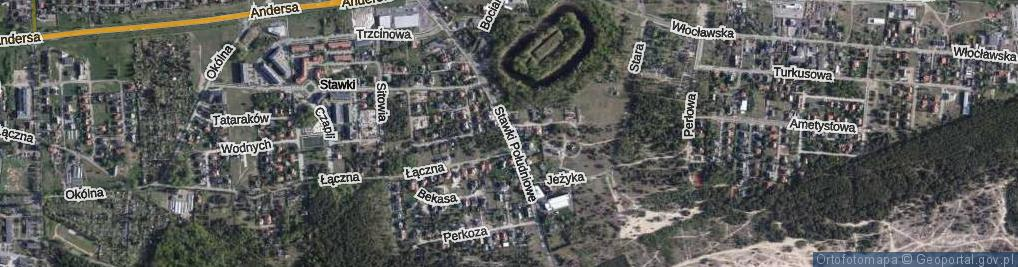Zdjęcie satelitarne Stawki Południowe ul.