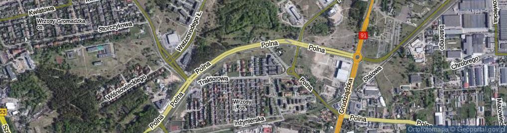 Zdjęcie satelitarne Strehla Leona, płk. dr. ul.