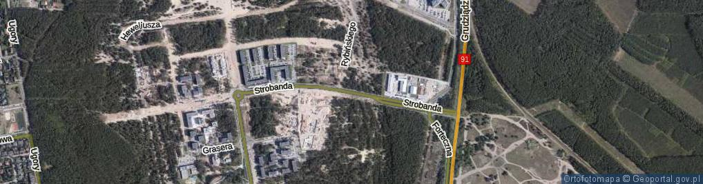 Zdjęcie satelitarne Strobanda Henryka ul.