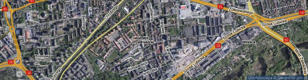 Zdjęcie satelitarne Studzienna ul.
