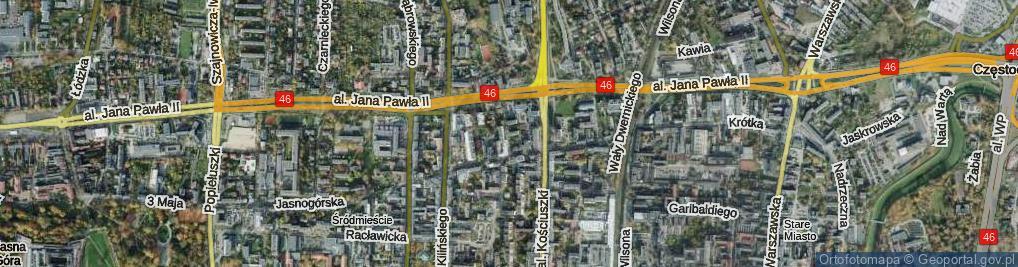 Zdjęcie satelitarne Sułkowskiego ul.