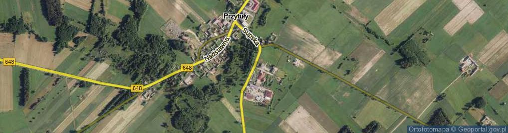 Zdjęcie satelitarne Supska ul.