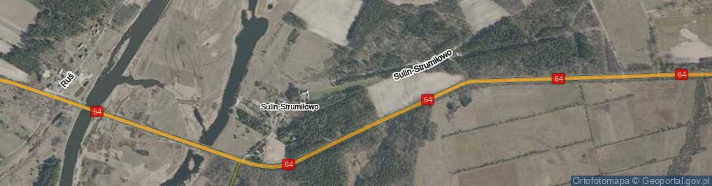 Zdjęcie satelitarne Sulin-Strumiłowo ul.