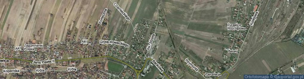 Zdjęcie satelitarne św. Józefa ul.