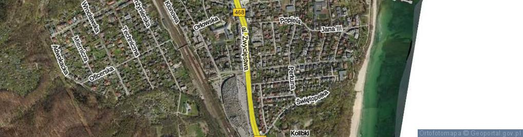 Zdjęcie satelitarne Światowida ul.