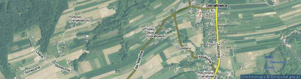 Zdjęcie satelitarne św. Marcina ul.