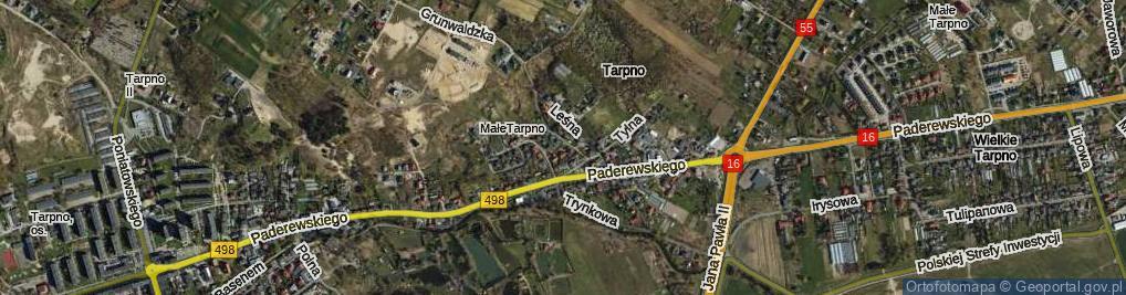Zdjęcie satelitarne Świerkocińska ul.