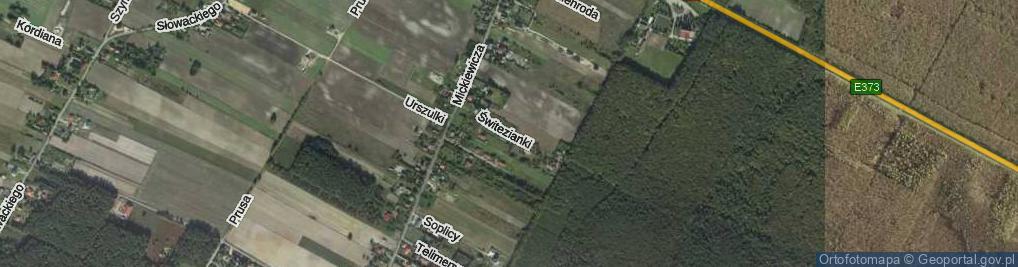 Zdjęcie satelitarne Świtezianki ul.