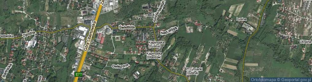 Zdjęcie satelitarne Świetlista ul.
