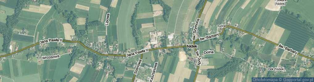 Zdjęcie satelitarne św. Floriana ul.