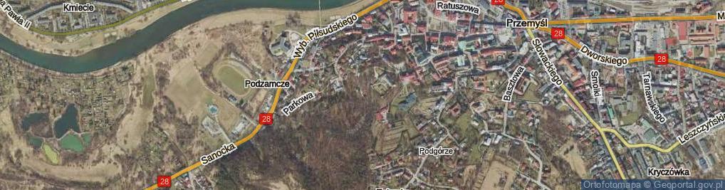 Zdjęcie satelitarne św. Królowej Jadwigi ul.