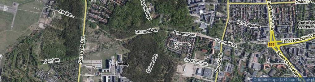 Zdjęcie satelitarne św. Klemensa ul.