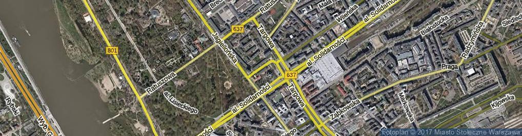 Zdjęcie satelitarne św. Cyryla i Metodego ul.
