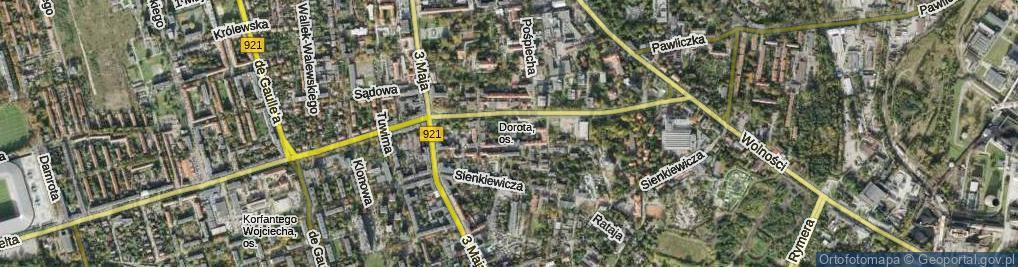 Zdjęcie satelitarne św. Cecylii ul.