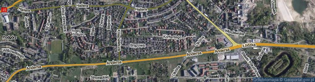 Zdjęcie satelitarne Sygnałowa ul.