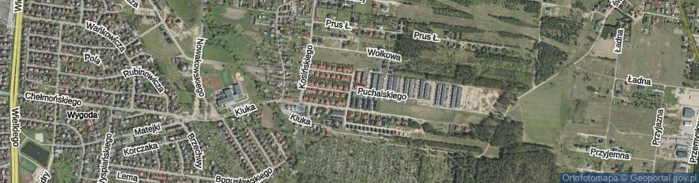 Zdjęcie satelitarne Szymańskiego Bolesława ul.